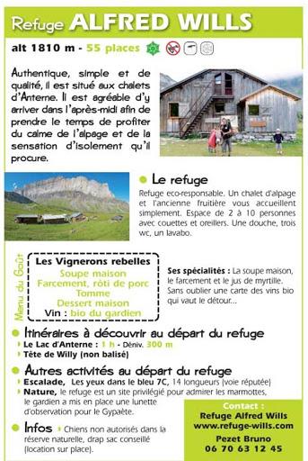 Refuge Wills à Sixt-Fer-à-Cheval. Bruno PEZET, gardien.24 juillet 2020