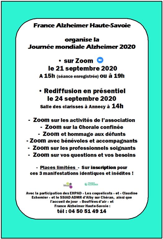 France Alzheimer 74 avec Florence BUGNARD, psychologue.
